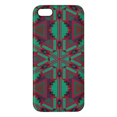 Green Tribal Star Apple Iphone 5 Premium Hardshell Case by LalyLauraFLM