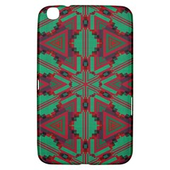 Green Tribal Star Samsung Galaxy Tab 3 (8 ) T3100 Hardshell Case  by LalyLauraFLM