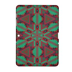 Green Tribal Star Samsung Galaxy Tab 2 (10 1 ) P5100 Hardshell Case  by LalyLauraFLM