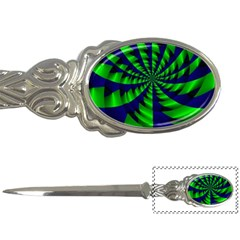 Green Blue Spiral Letter Opener by LalyLauraFLM