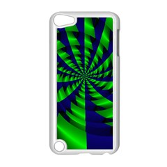 Green Blue Spiral Apple Ipod Touch 5 Case (white) by LalyLauraFLM