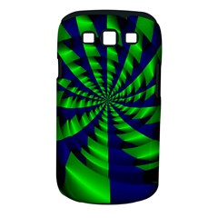 Green Blue Spiral Samsung Galaxy S Iii Classic Hardshell Case (pc+silicone) by LalyLauraFLM