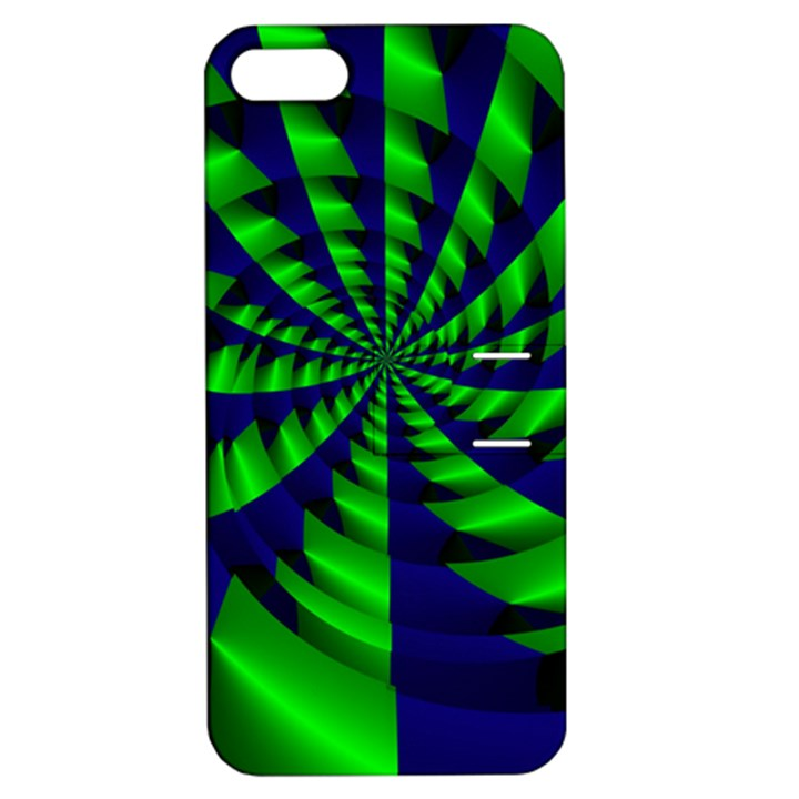 Green blue spiral Apple iPhone 5 Hardshell Case with Stand