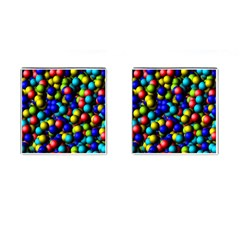 Colorful Balls Cufflinks (square) by LalyLauraFLM