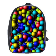 Colorful Balls School Bag (large) by LalyLauraFLM