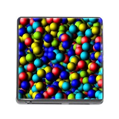 Colorful Balls Memory Card Reader With Storage (square) by LalyLauraFLM