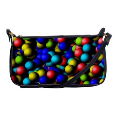 Colorful Balls Shoulder Clutch Bag by LalyLauraFLM