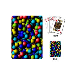 Colorful Balls Playing Cards (mini) by LalyLauraFLM