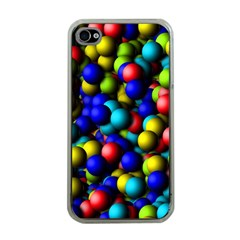 Colorful Balls Apple Iphone 4 Case (clear) by LalyLauraFLM