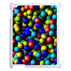 Colorful Balls Apple Ipad 2 Case (white) by LalyLauraFLM