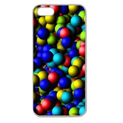 Colorful Balls Apple Seamless Iphone 5 Case (clear) by LalyLauraFLM