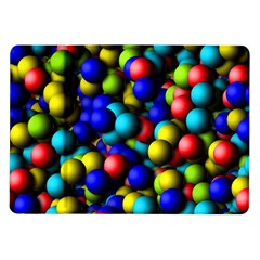 Colorful Balls Samsung Galaxy Tab 10 1  P7500 Flip Case by LalyLauraFLM