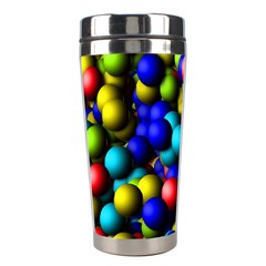 Colorful Balls Stainless Steel Travel Tumbler by LalyLauraFLM