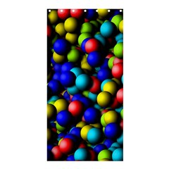 Colorful Balls 	shower Curtain 36  X 72  by LalyLauraFLM