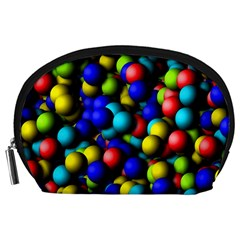 Colorful Balls Accessory Pouch by LalyLauraFLM