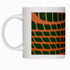 Distorted Rectangles White Mug by LalyLauraFLM