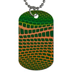 Distorted Rectangles Dog Tag (one Side) by LalyLauraFLM