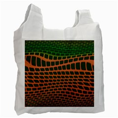 Distorted Rectangles Recycle Bag (one Side)