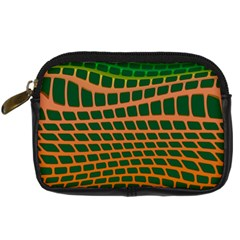 Distorted Rectangles Digital Camera Leather Case by LalyLauraFLM