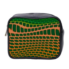 Distorted Rectangles Mini Toiletries Bag (two Sides) by LalyLauraFLM