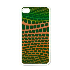 Distorted Rectangles Apple Iphone 4 Case (white) by LalyLauraFLM