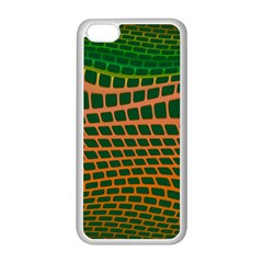 Distorted Rectangles Apple Iphone 5c Seamless Case (white) by LalyLauraFLM