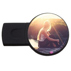 Boho Blonde 4gb Usb Flash Drive (round) by boho