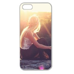 Boho Blonde Apple Seamless Iphone 5 Case (clear) by boho