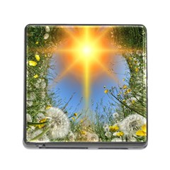Dandelions Memory Card Reader With Storage (square) by boho