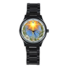 Dandelions Sport Metal Watch (black)