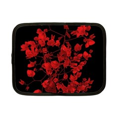 Dark Red Flower Netbook Sleeve (small) by dflcprints
