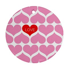 One Love Round Ornament by Kathrinlegg