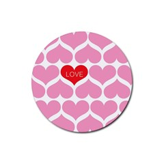 One Love Drink Coaster (round) by Kathrinlegg