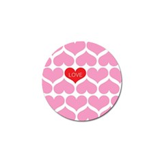 One Love Golf Ball Marker 10 Pack by Kathrinlegg