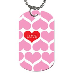 One Love Dog Tag (two Sided)  by Kathrinlegg