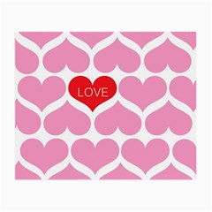 One Love Glasses Cloth (small, Two Sided) by Kathrinlegg