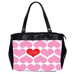 One Love Oversize Office Handbag (two Sides)