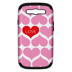 One Love Samsung Galaxy S Iii Hardshell Case (pc+silicone) by Kathrinlegg