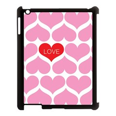 One Love Apple Ipad 3/4 Case (black) by Kathrinlegg
