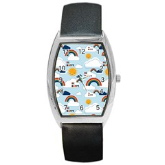 Be Happy Repeat Tonneau Leather Watch