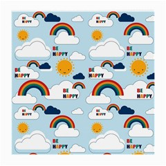 Be Happy Repeat Glasses Cloth (medium, Two Sided) by Kathrinlegg