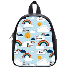 Be Happy Repeat School Bag (small) by Kathrinlegg