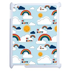 Be Happy Repeat Apple Ipad 2 Case (white)
