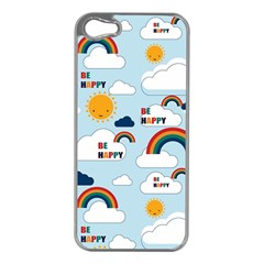 Be Happy Repeat Apple Iphone 5 Case (silver) by Kathrinlegg