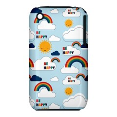 Be Happy Repeat Apple Iphone 3g/3gs Hardshell Case (pc+silicone) by Kathrinlegg