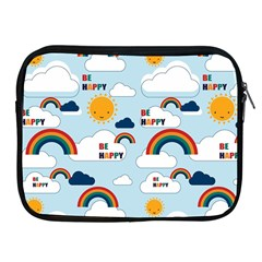Be Happy Repeat Apple Ipad Zippered Sleeve by Kathrinlegg