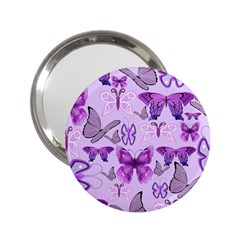Purple Awareness Butterflies Handbag Mirror (2 25 ) by FunWithFibro