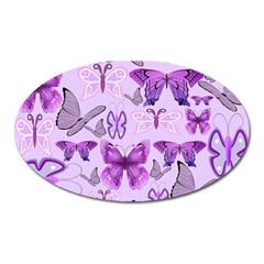 Purple Awareness Butterflies Magnet (oval) by FunWithFibro