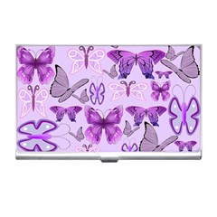 Purple Awareness Butterflies Business Card Holder by FunWithFibro