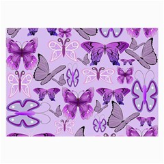 Purple Awareness Butterflies Glasses Cloth (large, Two Sided) by FunWithFibro